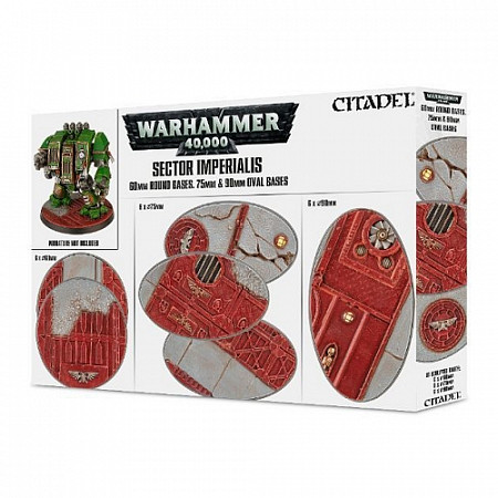 Набор подставок Games Workshop Warhammer S/Imperialis: 60 mm RD 75/90 mm Oval Bases 66-93