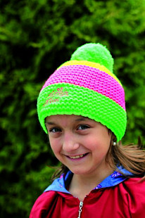 Шапка детская SportCool 44/1 Green/Pink/Yellow
