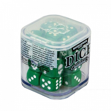 Набор кубов Games Workshop Warhammer Citadel 12 mm Dice Set green 65-36