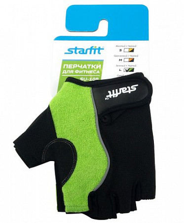 Перчатки для фитнеса Starfit SU-108 Green/Black