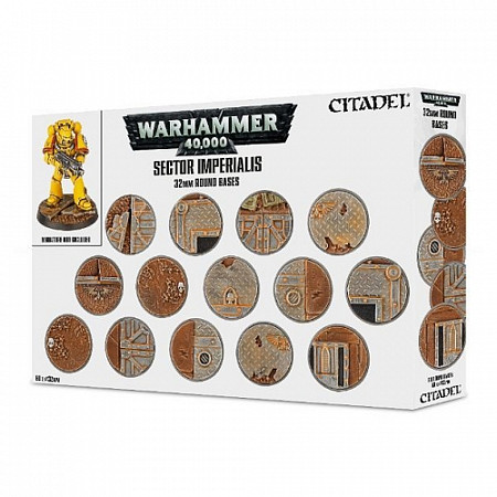 Набор подставок Games Workshop Warhammer Sector Imperialis: 32 mm Round Bases 66-91