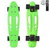 Penny board (пенниборд) Y-Scoo Skateboard Fishbone 22 405-G Green-Black